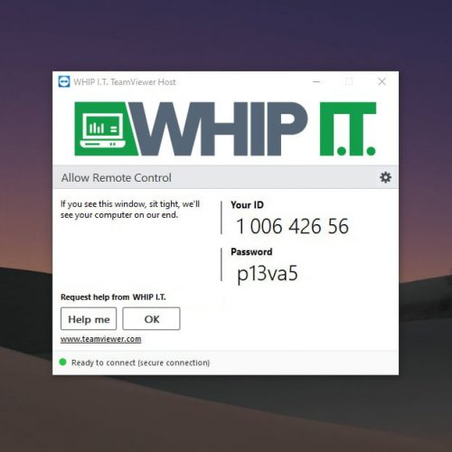 WHIP I.T. TeamViewer Agent